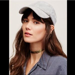 FP Williamsburg Faux Suede Baseball Hat Gray